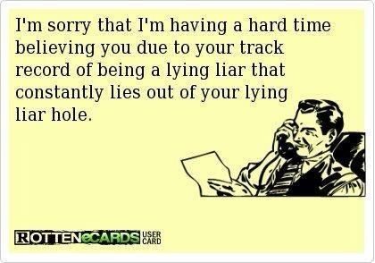 Yup you are a pathological liar. They courts saw it too