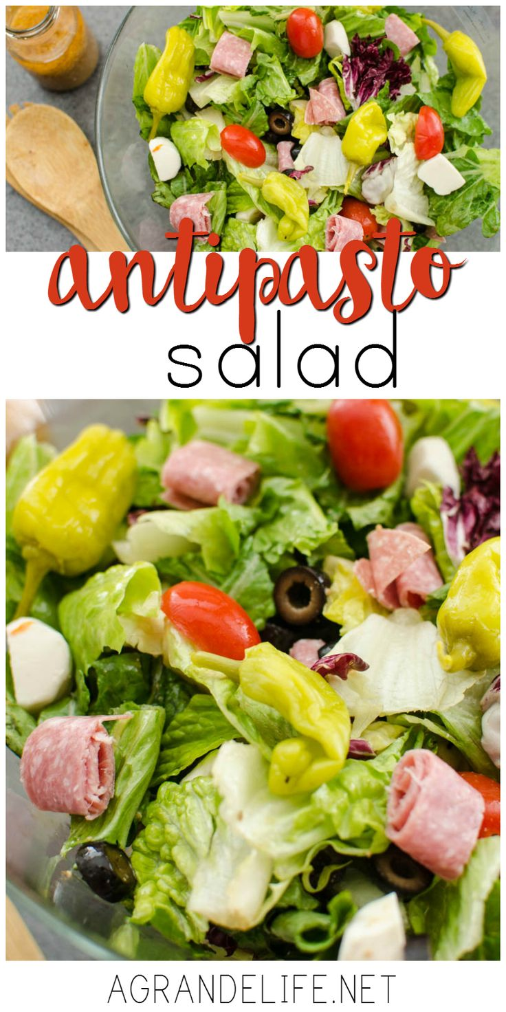 This Antipasto Salad is the perfect side dish for your next pizza night!