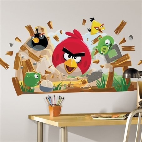For Stephenu0027s Room: Room Mates Angry Birds Peel And Stick Giant Wall Decals