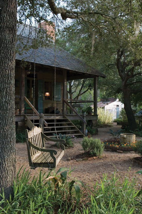 Bayou Beauty:  Maison Madeleine in Breaux Bridge, Louisiana is an authentically-restored Creole cottage built in the Acadian style during the1800's.