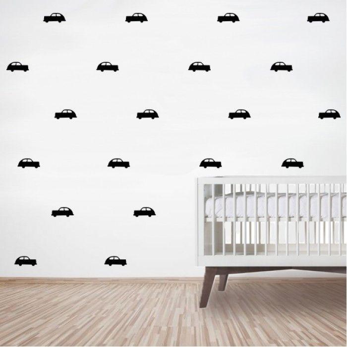 Muurstickerset van auto's op de muur? | KidZstijl.nl