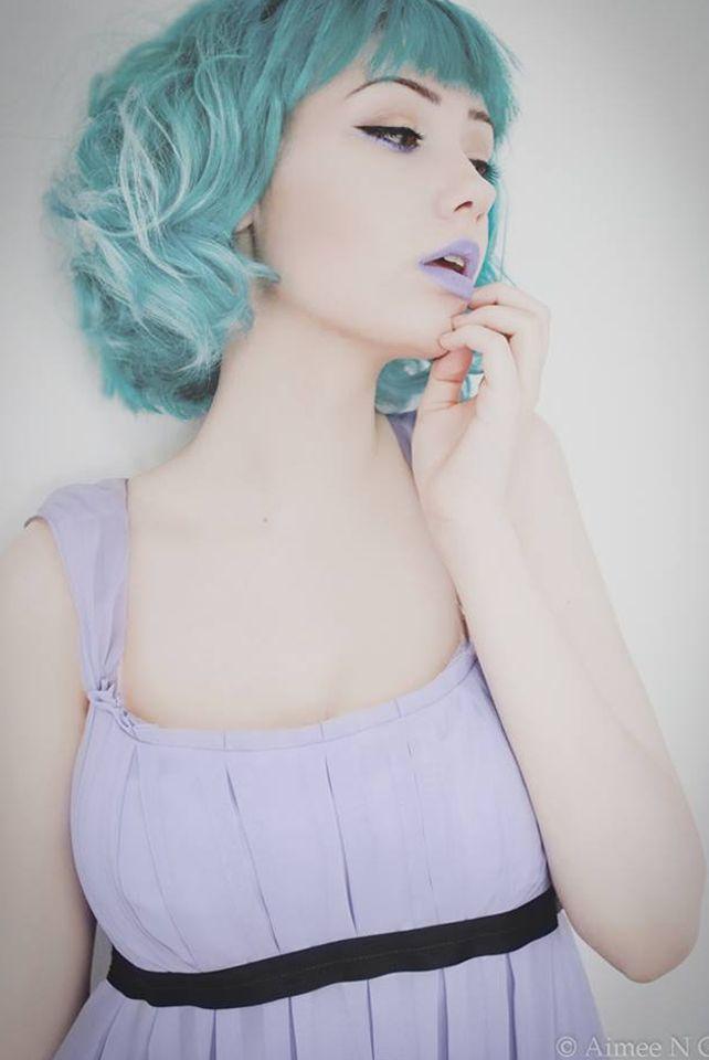 Aimee-NG-pastel-hair-Pravana-Seafoam-Green♥ pastel rainbow hair, soft grunge ♥