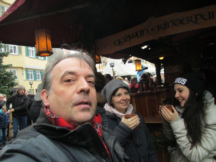 ....auf dem Esslinger Weihnachtsmarkt mit Familie...
