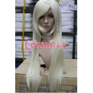 Long Straight Beauty White Cosplay Girl Hair Wig Wa176 $20.92