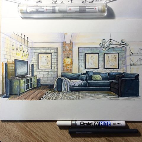 1866 best images about presentation techniques sketching for Interior design drawing tips