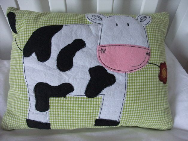 images of farm cushions | Cushions – Handmade applique farm fabric childrens cushion – a ...