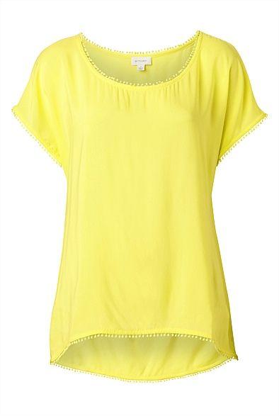 Pom Pom Pom Pom Insert T-Shirt - cute summer colour.