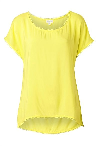Another cute yellow tee - Pom Pom Pom Pom Insert T-Shirt #witcherywishlist