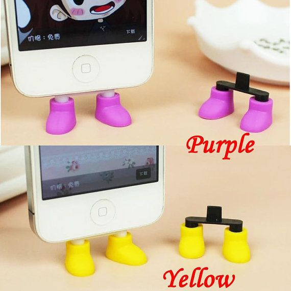 2 in 1 Creative 9 Colors Shoes iPhone Stand Data Port by MilanDIY