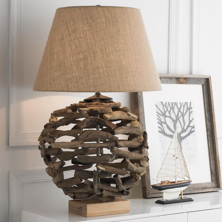 Driftwood ball table lamp make a style statement thats all about reducing your carbon footprint
