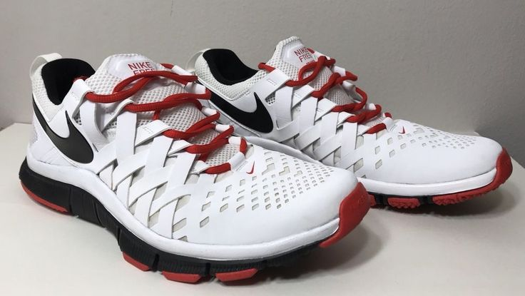 Nike Free Trainer Mens Size US 12 White Red Black Weave Sneaker Shoes Athletic  | eBay
