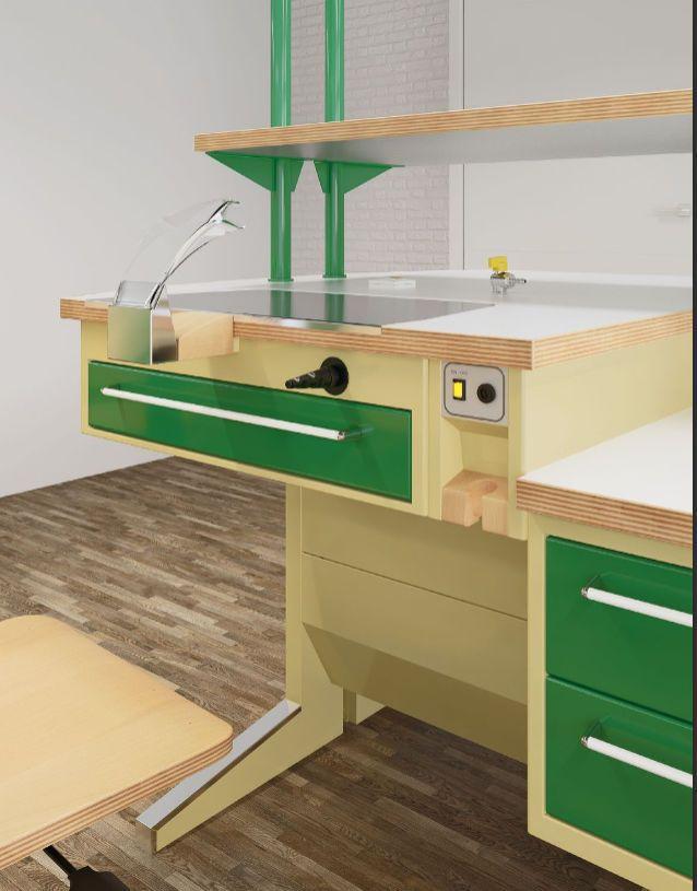 Mueble de uso general / para clínica dental / con cajón / con fregadero - ESSENTIAL  4 - ASTRA MOBILI METALLICI