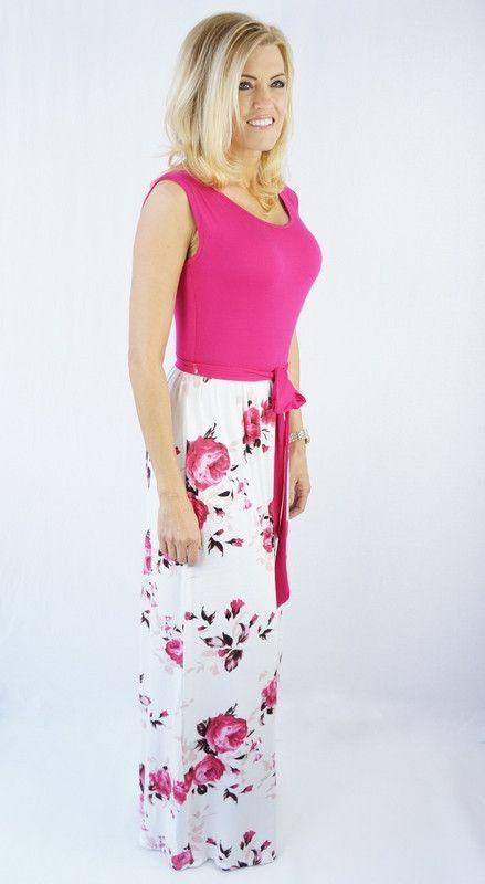 Pink Floral Love Maxi Dress