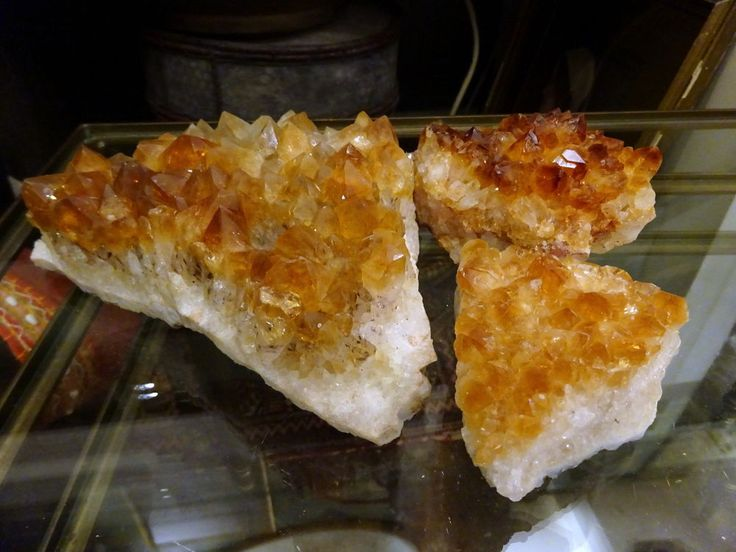 Beautiful Citrine Crystal Cluster 3 pieces