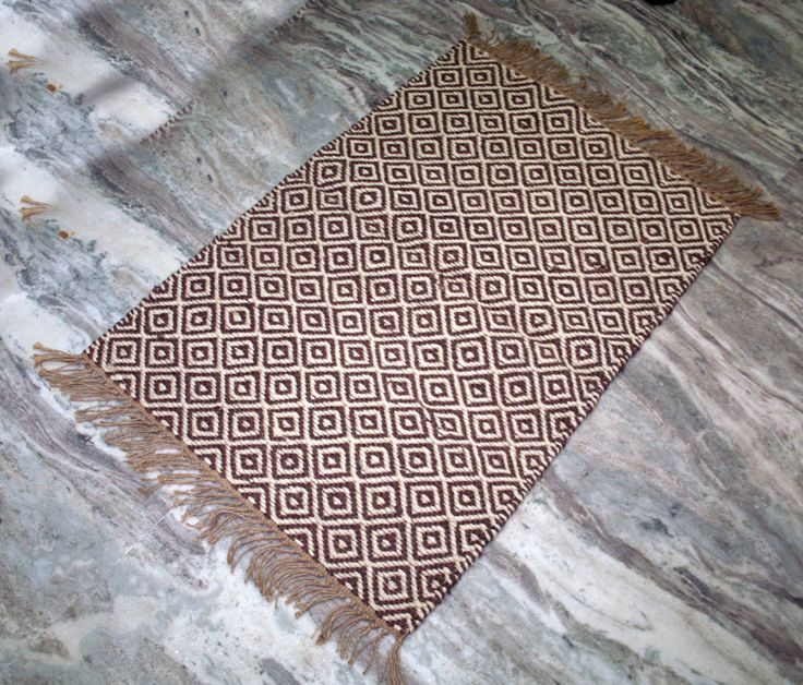 "Turkish Kilim Door Mat Rug,Vintage Kilim,Jute 24""x36"" Area Door Mat Rug,Carpet #Handmade #DoorMat"