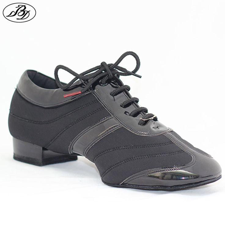 Men Standard Dance Shoes BD 328H Dancesport Shoe  Men Ballroom Dance Shoes Split Sole  Modern Shoes Stretch Spandex Patent
