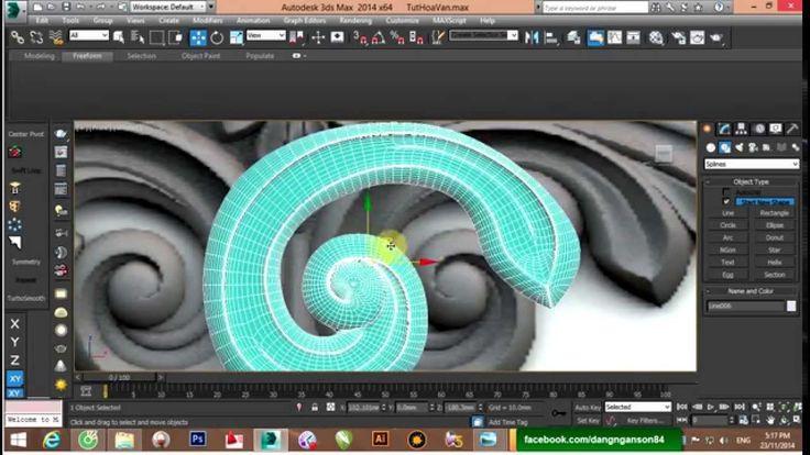 Học 3Ds Max Cơ bản và Nâng cao   Bài 12: Vẽ hoa văn P2