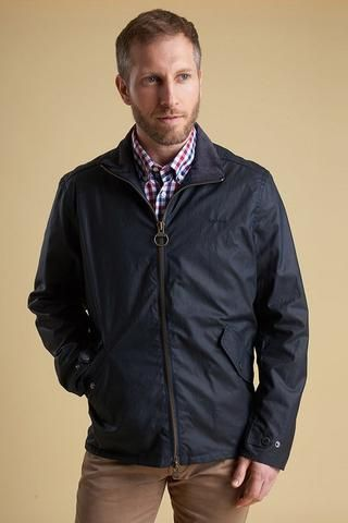 Smyths NEW Barbour Claxton mens wax jacket in Navy MWX1323NY92 is already a superb seller and is something different, modern fashionable and very practical.