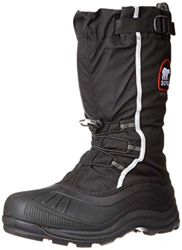 Sorel Men's Alpha Pac Extreme Snow Boot,Black/Red Quartz,9 M US