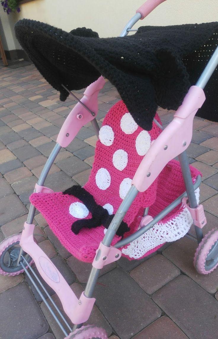 Stary wózek dla lalek w nowym wydaniu - Minnie Mouse