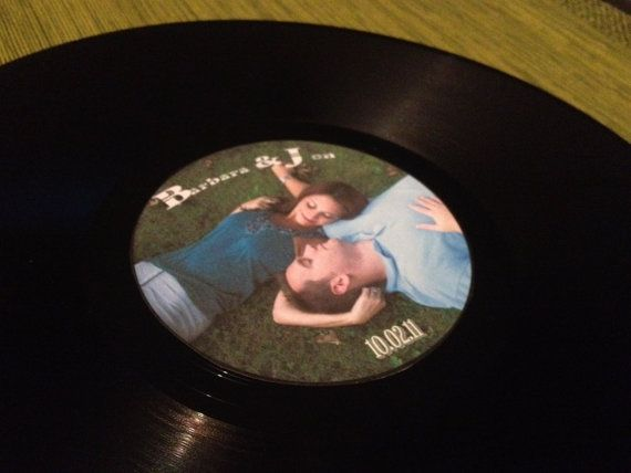 Personalized Vinyl Records & Center Labels Wedding by BridalStock, $28.00