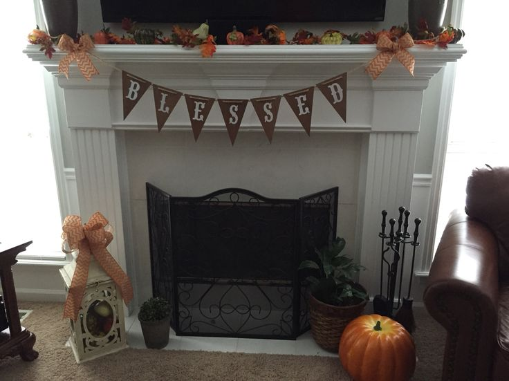 Fall mantle hobby lobby michaels wood pennant banner it