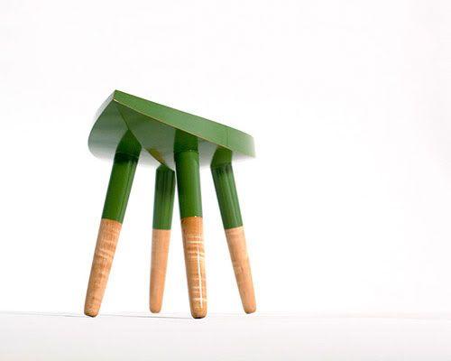 Design Traveller: Leafy Green Stool By Jonah Takagi