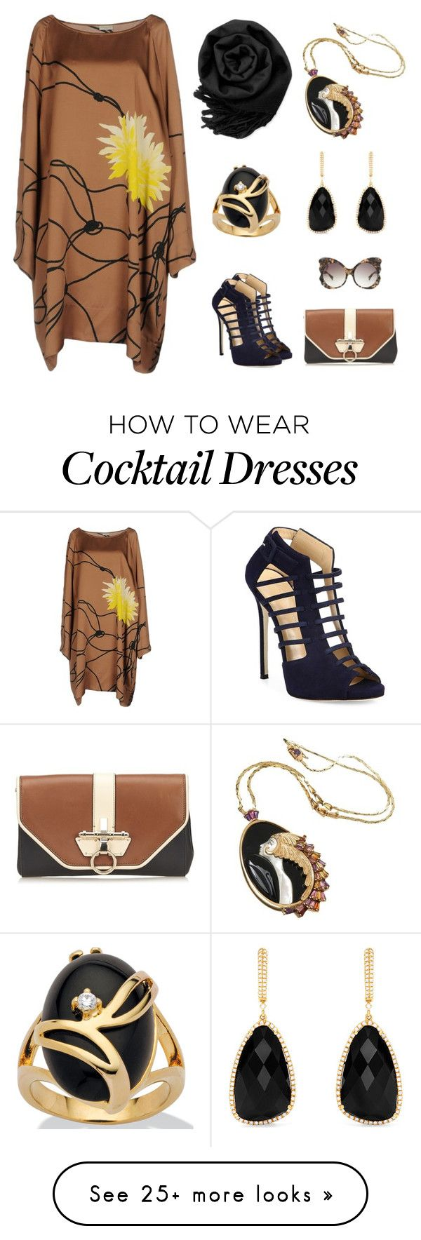 """Dinner Date"" by karen-galves on Polyvore featuring Dries Van Noten, Giuseppe Zanotti, Gearonic, Givenchy, Erté, Effy Jewelry, Palm Beach Jewelry and Matthew Williamson"