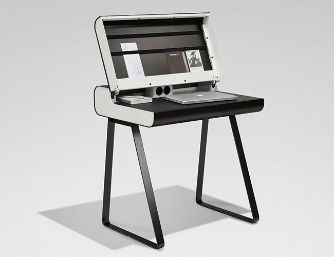Retro Bureau by Wharfside designed and crafted by ze Germans using aluminum and steel.