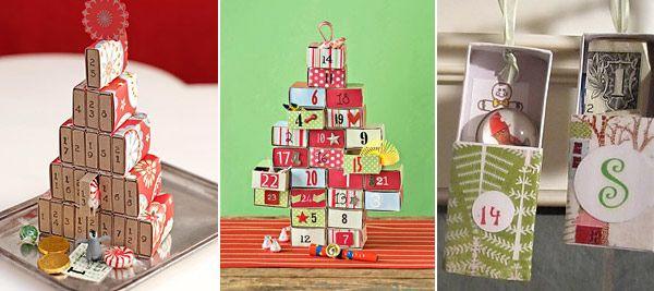 Рождественские календари из спичечных коробков