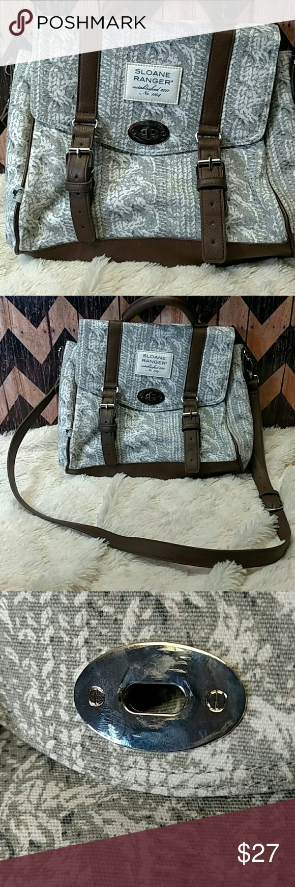 Sloane Ranger Top Handle Bag Sloane Ranger Top Handle cable knit print in very excellent condition!! Like NEW Sloane Ranger Bags Satchels