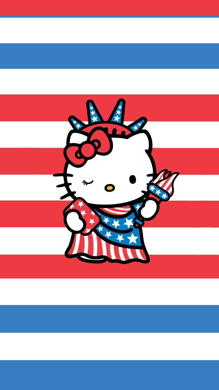 1000 images about iphone wallpaper backgrounds on for Hello kitty 4th of july coloring pages