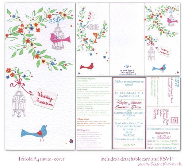 Birdcage wedding invitation idea — Tickled Pink!