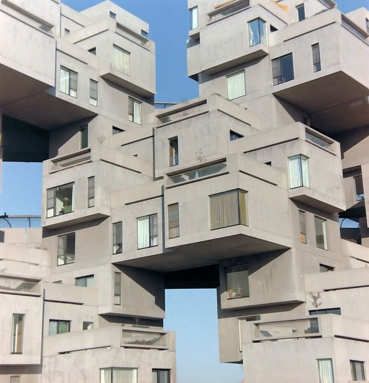 Habitat '67, Montreal, built for the 1967 World Expo held there