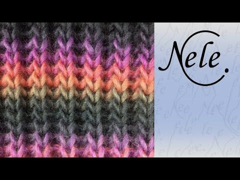 Mütze stricken, Patentmuster in Runden mit tiefer gestochenen Maschen, DIY Anleitung by NeleC. - YouTube