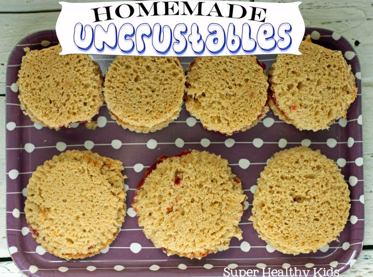 Homemade Uncrustables.  Freeze, then pull out for when you need to pack a lunch fast! #sandwiches4kids from Super Healthy Kids