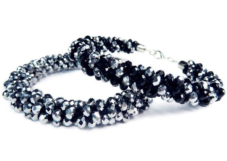 "DIY: Kumihimo blacelet with beads / Браслет ""Кумихимо"" с бисером из 8 ни..."