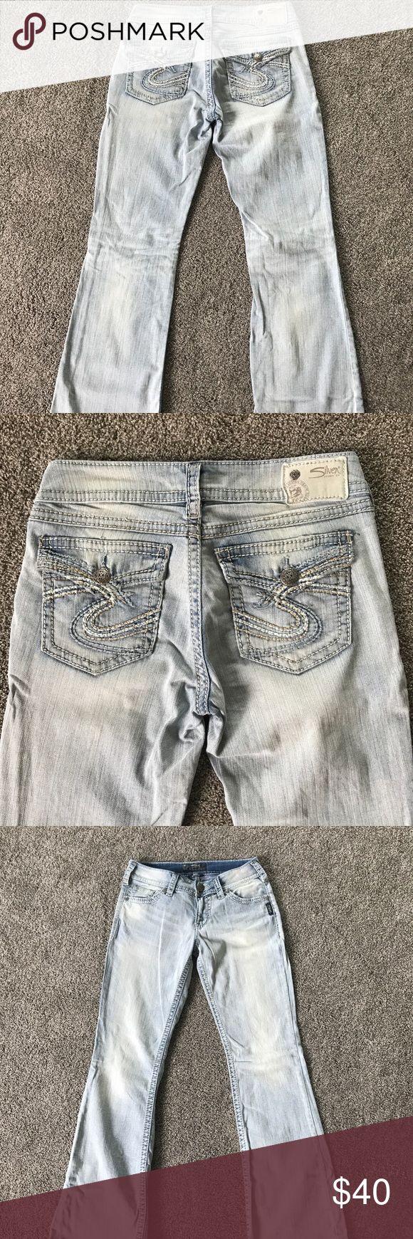 Women's Silver Suki jeans sz 27/30 Women's Suki Silver Jeans size 27/30 super cute! No flaws! Very comfortable! Silver Jeans Pants Boot Cut & Flare