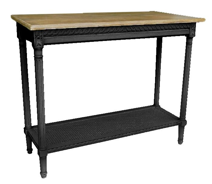 Polo Console Table, Black 110 x 40 $915.  Good mix of black and timber