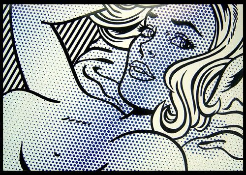 LOT 25 ROY LICHTENSTEIN Seductive Girl Poster in screenprinting after the original in 1996 58.5 × 85 cm (23 × 33.5 inch) Estimate €300 - €500 Starting price €300  http://lavacow.com/current-auctions/lavacow-autumn-auction/seductive-girl.html