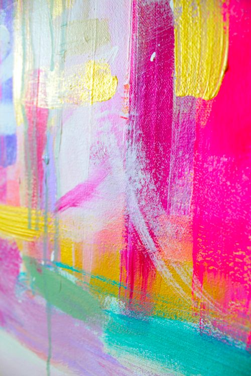 color | bright paint strokes