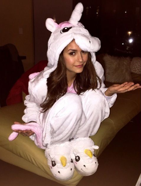 "[ nina dobrev ] ""hello. i'm luca. i'm 17. my mom is unikitty! [lego movie] i'm very happy. but when i'm angry you might wanna run! my best friends are kennedy, alyssa, chester and calum. intro?"" i giggle"