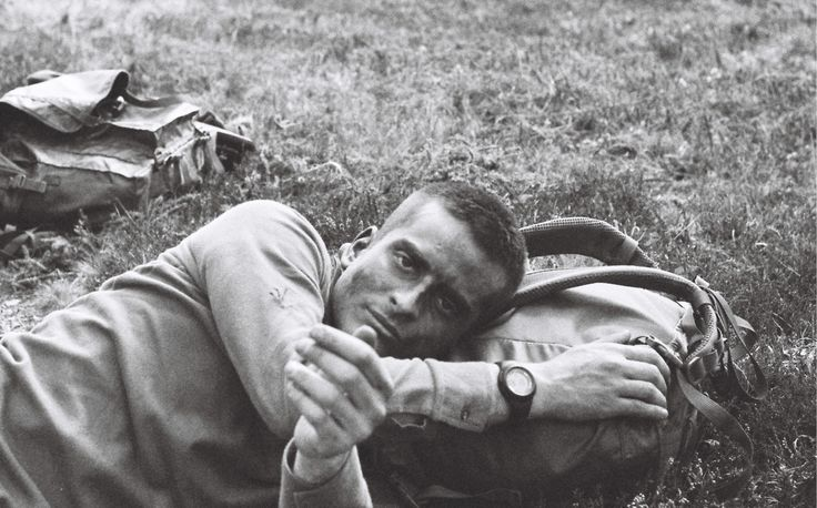 A student from the French Special Military School of Saint-Cyr is taking a rest after two day of combat training | credit: Ryan Burton | Spec: Asahi Pentax K-1000, SMC Pentax-A 50mn 1:1,7, f=8, 1/1000 ISO: 400, HP5+ film