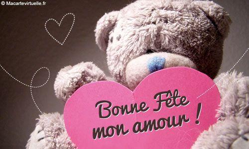 Carte Virtuelle Amour, un ourson pour ta fête