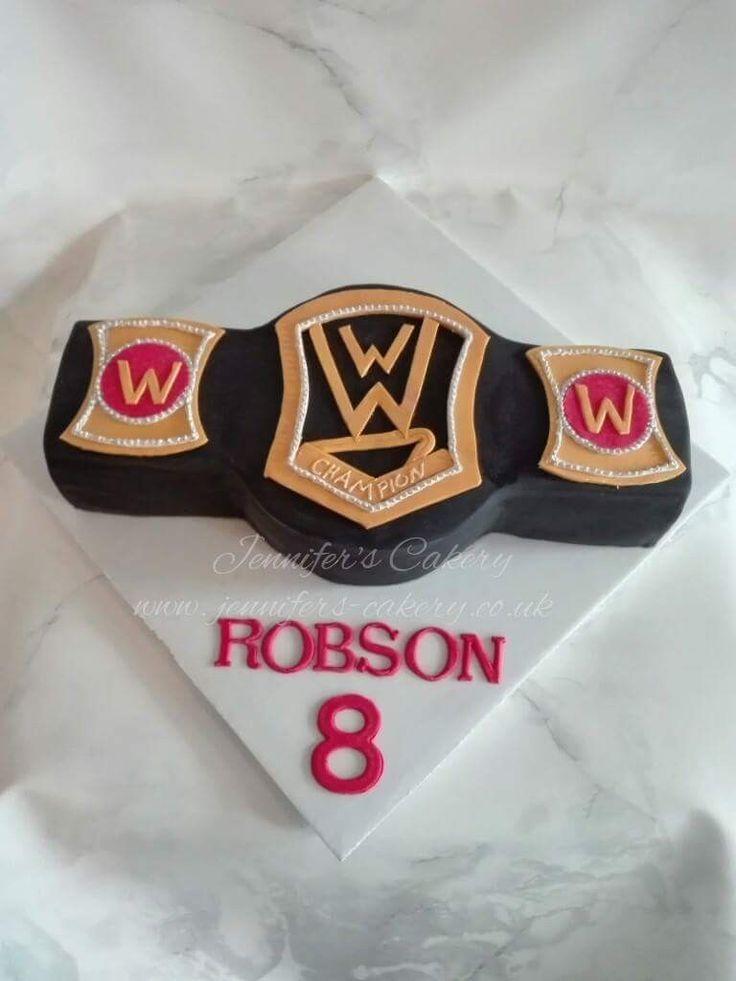 Wwe belt cake -By Jennifer's Cakery