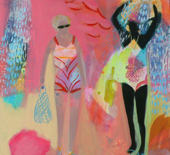 becky blair * artist - paintings: sunset blush