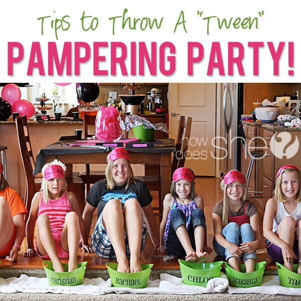 tween pamper party