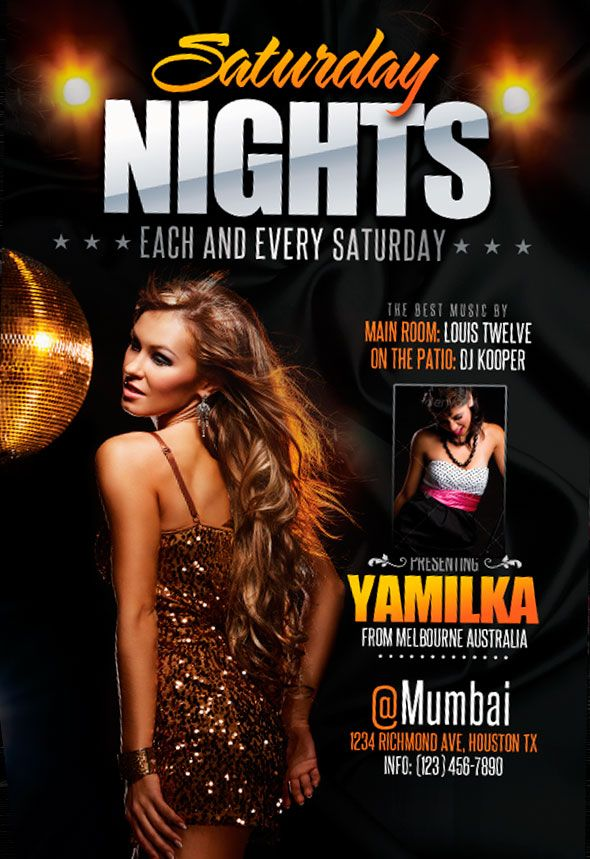 free saturday nights flyer template