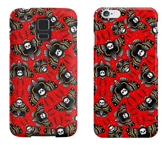 Death Moth  iPhone / Samsung Galaxy Case di DeathsAmoreCloth