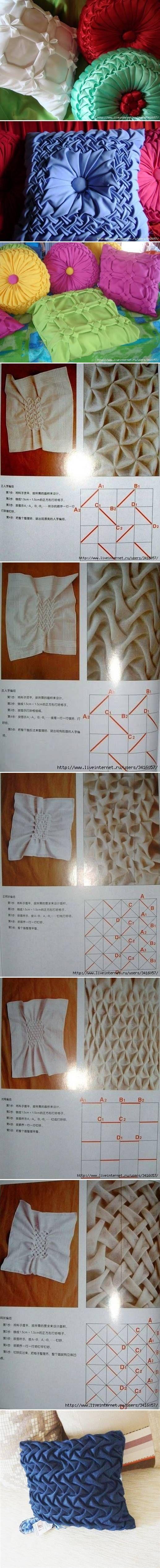 DIY Pillow Ideas and Schemes